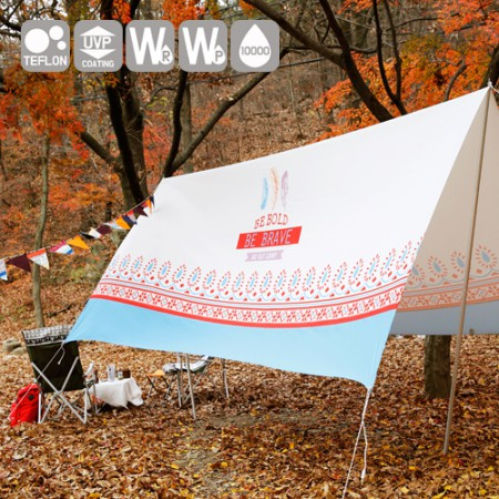 """Emotional camping fabric) Wide tongpan not cut - Happy Hippy <div style=""""display:none;""""> Fabric / mall / Fabric / Fabric Store / camping cloth / tablecloth / Waterproof </div>"""