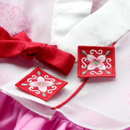 2ea) can decorate their own hanbok 4 (Red)