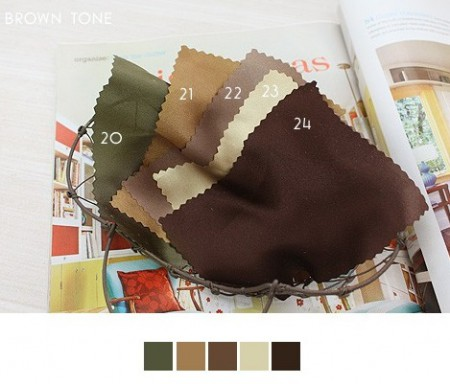 - 20% discount 1Hermp] significantly - Satin Solid - 40 kinds of various colors - Deep Brown]