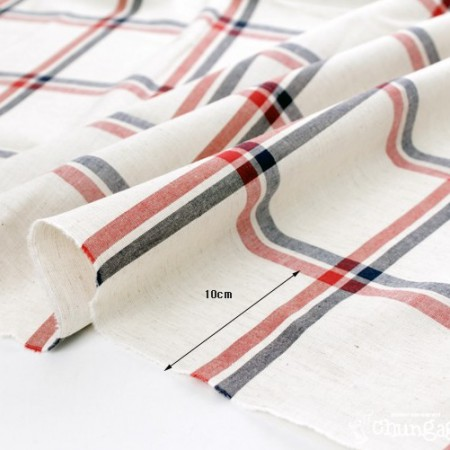 - 20% discount 1Hermp]-dyed linen) vintage double-check [Red]
