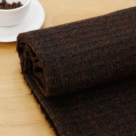 Wool blend fabric), warm winter (Brown)