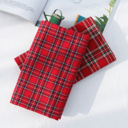 Wool fabrics can be dyed 10) Red check (2 species)