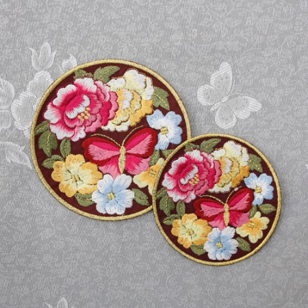 Hanbok embroidered round use) butterfly garden often trace (2 species)