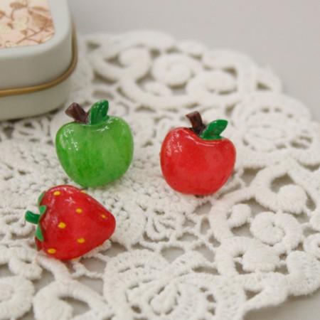 3ea) Fruit button (3 types)
