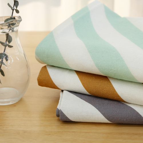 -DTP20 Can greatly washing linen fabric) slash stripe (3 types)