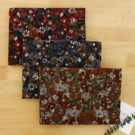 Significantly - brushed cotton fabrics) vintage flower (3 types)