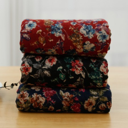 Significantly - brushed cotton fabrics) Blooming Flower (3 types)