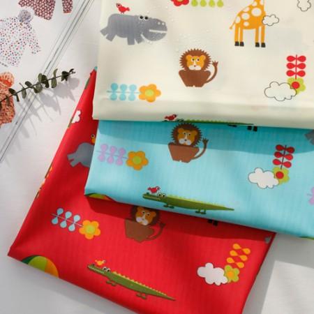 Cotton blend fabric laminates) Animal kingdom (3 types)