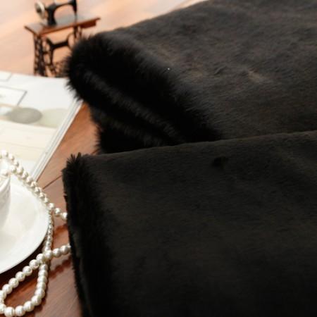 Significantly - Mink felt fabric) faux fur series _Black (2 species)