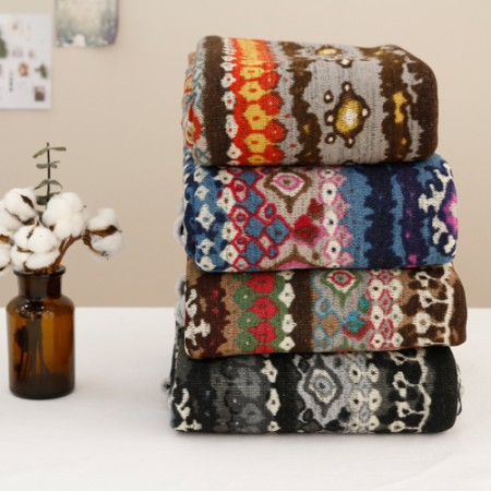 Significantly - brushed knit fabric) bohemian (4 species)