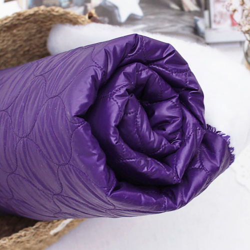 Significantly-sided quilted) Windbreak lip purple padding material