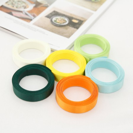 [5Hermp] satin tape) 15mmYellow greenver (6 species)