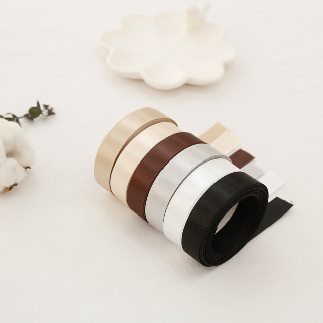 [5Hermp] satin tape) 15mm White Brown ver (6 species)