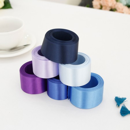 5Hermp) 40mm satin tape _Bluever (6 species)