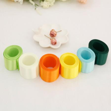 5Hermp) 40mm satin tape _Yellow greenver (6 species)