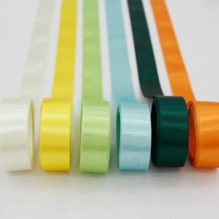 5Hermp) 25mm satin tape _Yellow greenver (6 species)