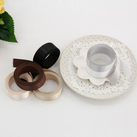 [5Hermp] satin tape) 25mm white brown ver (6 species)