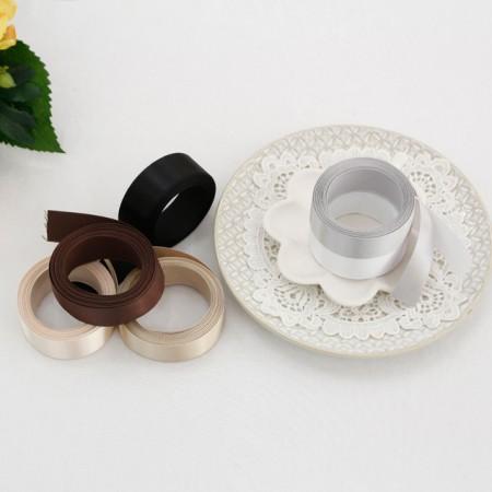 5Hermp) 25mm white satin brown tape _ ver (6 species)