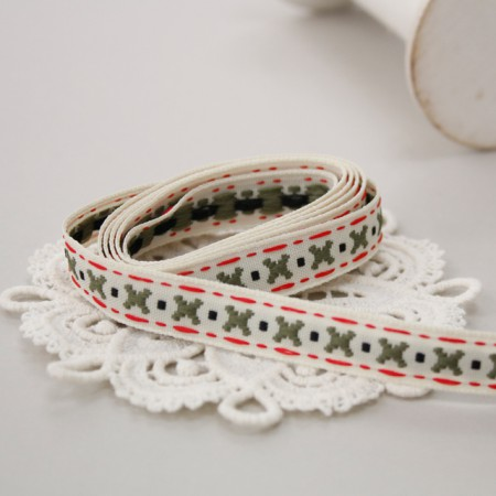 Decorative tape) Simple X stitch
