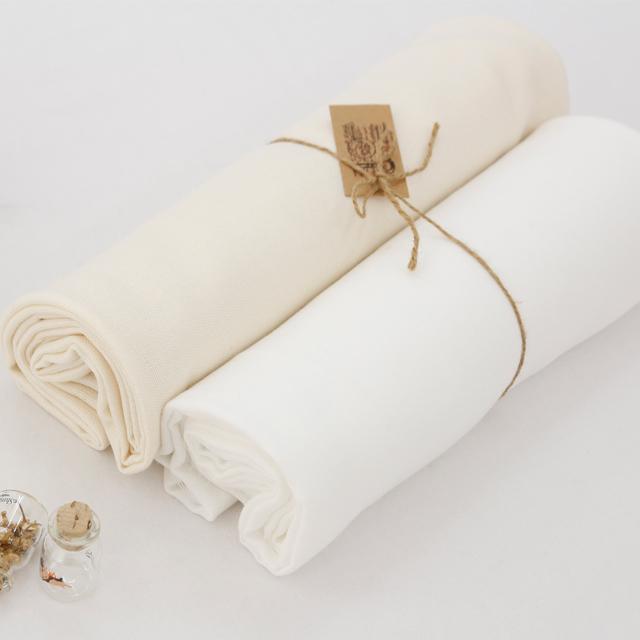 Significantly - Organics double gauze fabric) Natural Cotton (2 species)