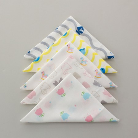 Finished products) embossed gauze handkerchief (5 types) NO.1