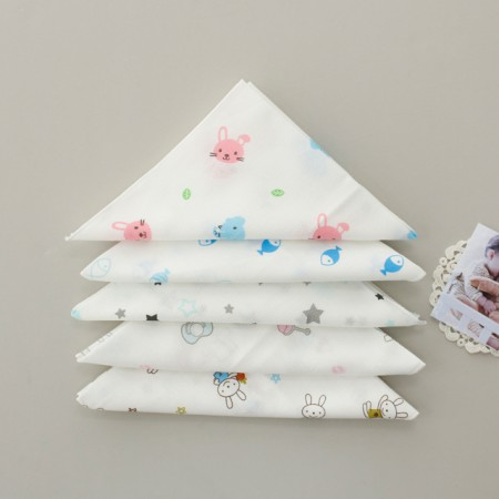 Finished products) embossed gauze handkerchief (5 types) NO.2