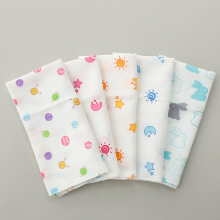 Finished products) embossed gauze handkerchief (5 types) NO.4