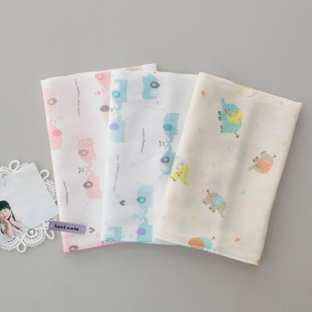 Finished products) Modal & Bamboo elephant handkerchiefs (3 types)