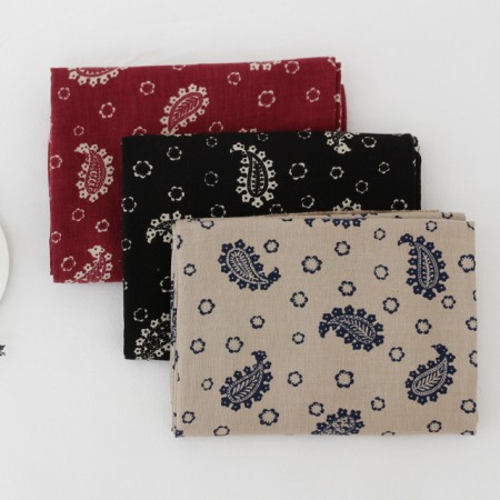 Significantly - double gauze fabric) Antique Paisley (3 types)