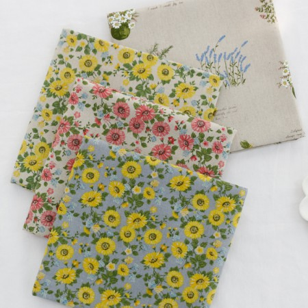 Significantly - linen fabric) wild chrysanthemum (4 species)