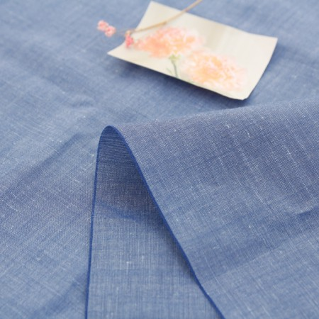 Significantly-wool linen fabric) Indigo