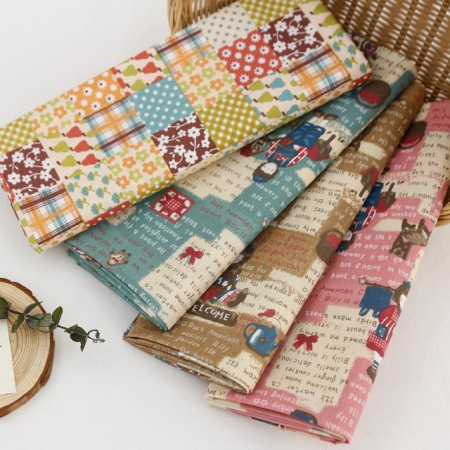 Cotton blend fabrics) Country House (4 species)