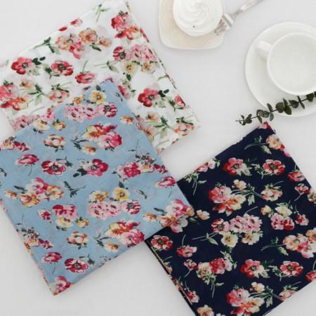 Asa fabric can dramatically -60) Pink Flowers (three)