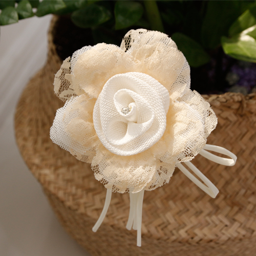 Decorative curtains) Flower Corsage (Ivory)