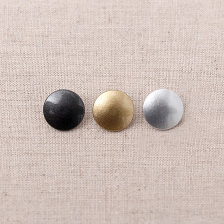 6 pairs) line coco metal style T Set button 13mm