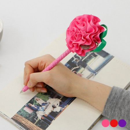 Finished products) Carnation Ballpoint Pen (Random delivery)