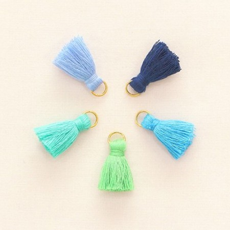 5ea) Cool color tassels Set_25mm
