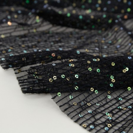 Large-mesh fabric) Spangle