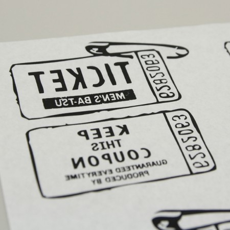 Paper transfer paper) Ticket clip