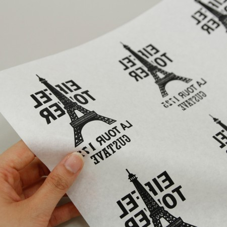 Paper transfer) Eiffel Tower (Black)