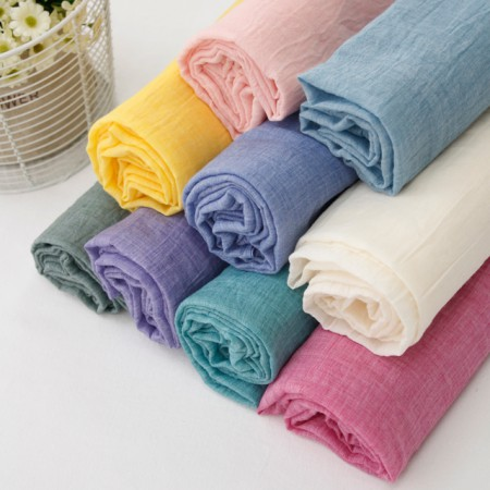Large -Washing gauze fabric) Plain Fashimina (10 kinds)
