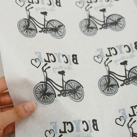 Paper transfer paper) Bicycle