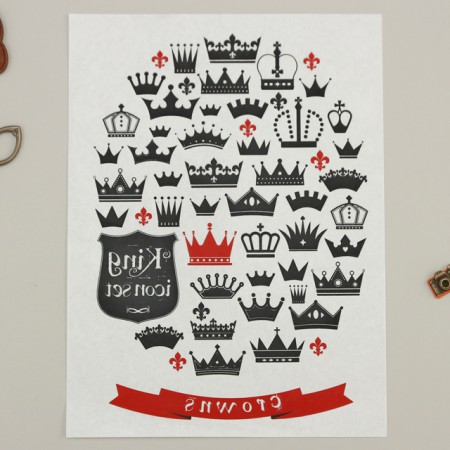 Paper transfer) Crown Garden