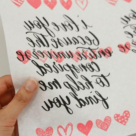 Paper transfer paper) Love lettering