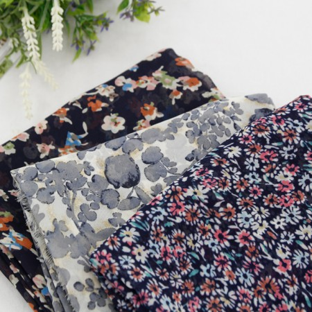 Large-chiffon printing fabric) St (3 kinds)