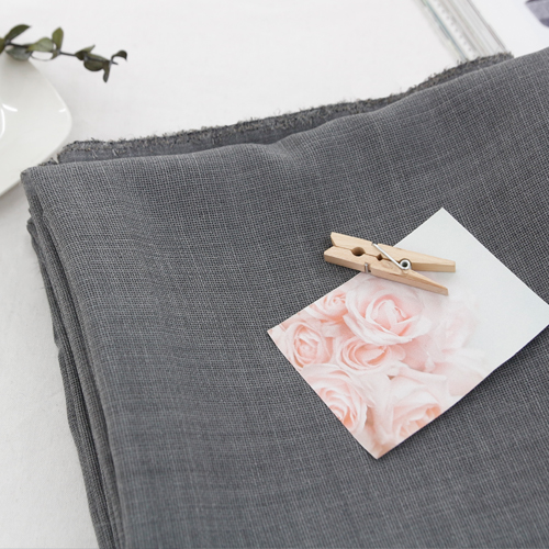 Large -Poly Linen Fabric) Gray