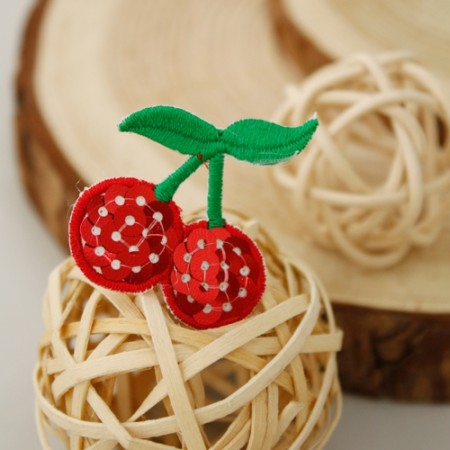 Sewing expression fan) Spangling mini cherry [43]