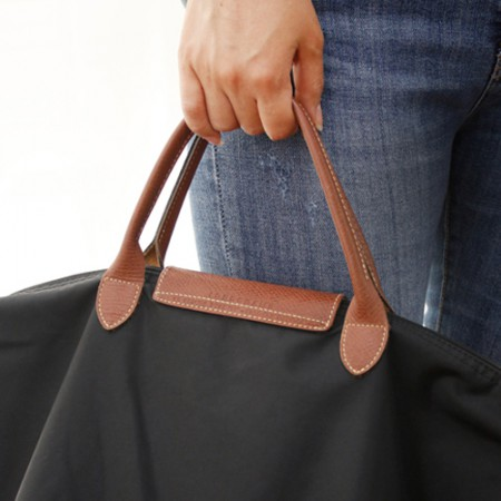Bag strap) Luxury leather cowhide _ Natural handle (two kinds)