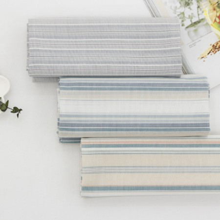 Wide-poly-linen fabric) Edge stripe (3 kinds)