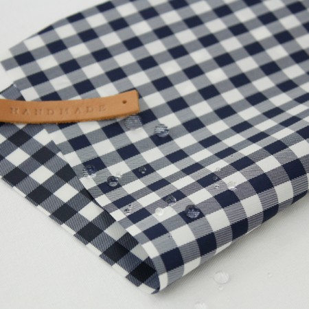 Large - waterproof one thousand ten thousand) Navy check (864)